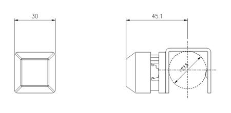 超小型引っ掛け F01051 寸法図スマホ用