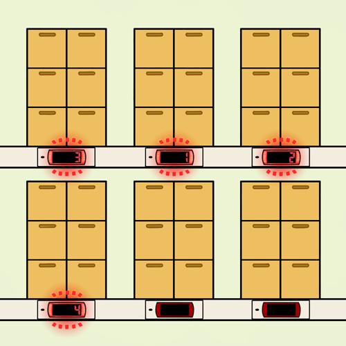 デジタルピッキング(摘み取り方式)のピッキング作業手順1